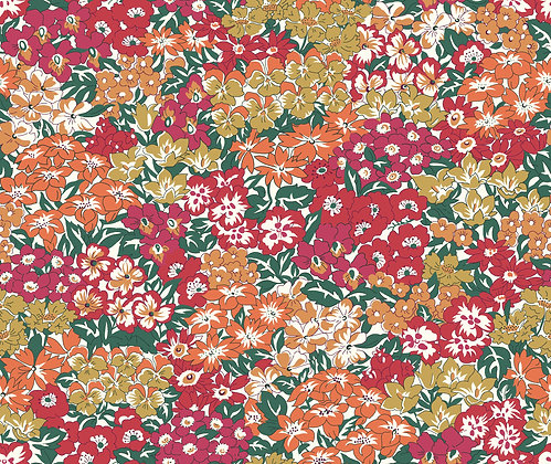 Liberty Wisley Grove Orange per quarter metre