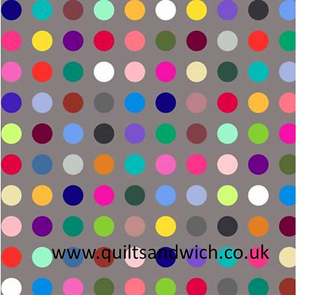 Polka Dot - Grey Multi  108inches  wide