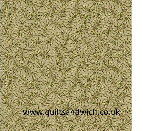 Moss Green -Boughs of Beauty by Benartex 108 inches  per qtr mtr