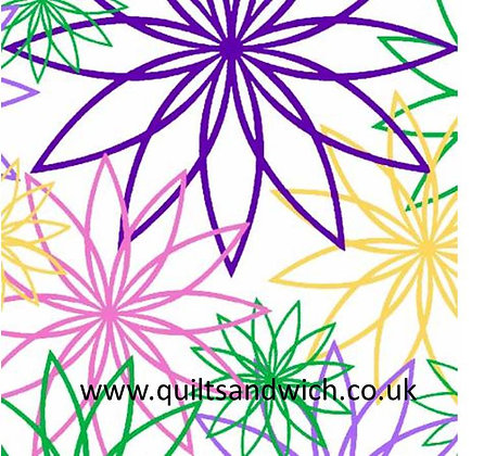 Star Flower Cool  108inches  wide per qtr m