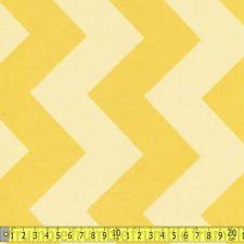Riley Blake Yellow Chevron - Per Quarter Metre