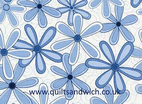 Basically Wide blue flower 108 inches x 78 inches