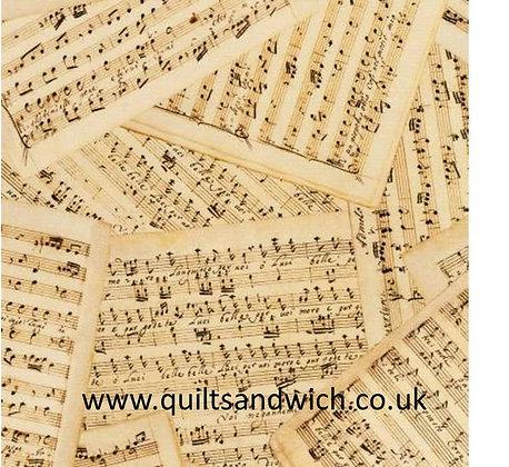 Antique Music  108inches wide  per qtr metre