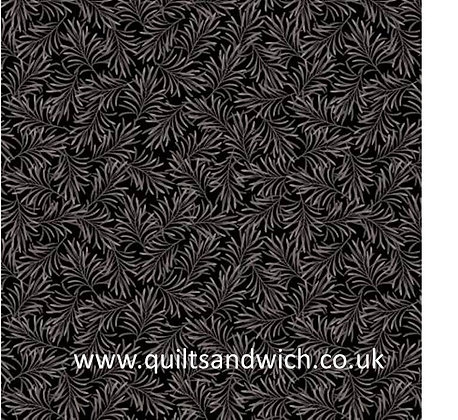 Charcoal -Boughs of Beauty by Benartex 108 inches  per qtr mtr