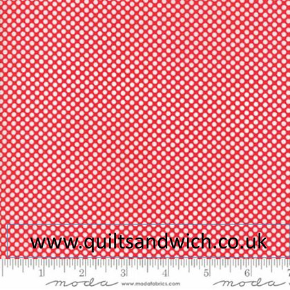 Moda Red Vintage holiday per qtr metre