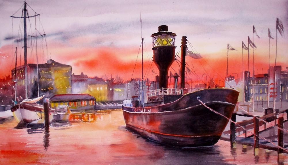 Spurn Point Lightship Carol Davidson