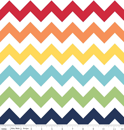 Rainbow zigzag  108 inches x 11 inches Plus