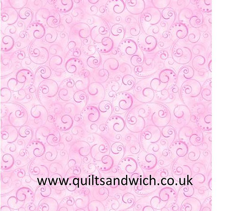 Pink Swirling Splendor 108inches  per qtr metre