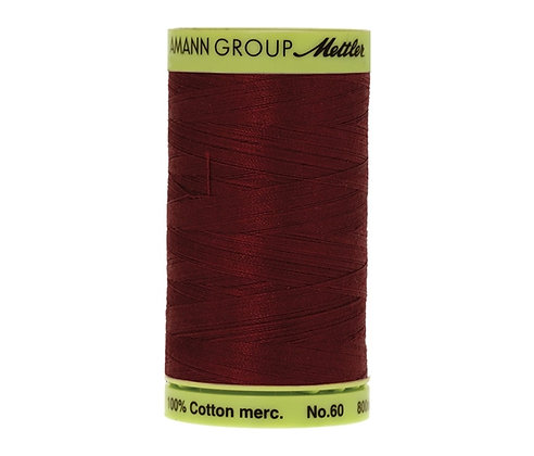 Mettler 800m 0109 burgundy  Silk Finish Cotton 60 weight