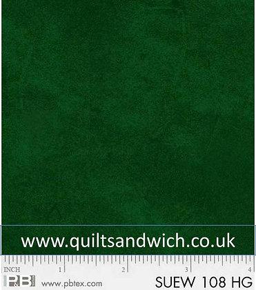 P &B Suede Green per qtr metre