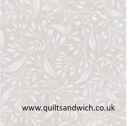 Light Silver Flourish Alessia 108inches wide  per qtr metre