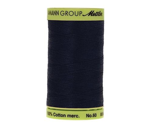 Mettler 800m 0825 navy Silk Finish Cotton 60 weight