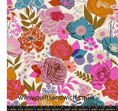 Rise Ruby Star Shell 108 inches wide per qtr metre
