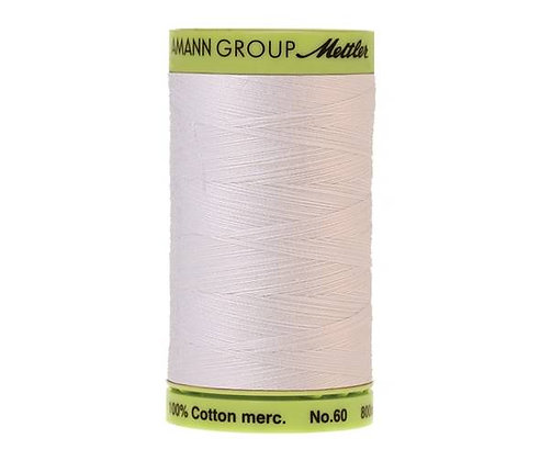Mettler 800m 2000 White  Silk Finish Cotton 60 weight