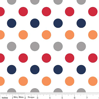 Rainbow dots Boy per quarter metre