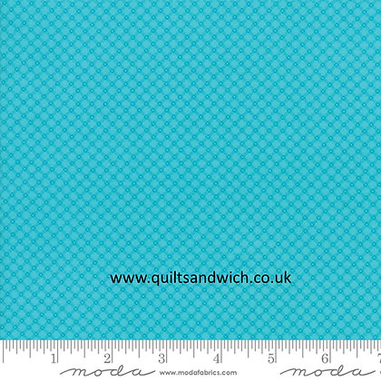 Moda Turquoise  Fiddle Dee Dee  108 inches wide per qtr metre