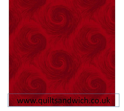 Henry Glass Breezy Red per qtr metre
