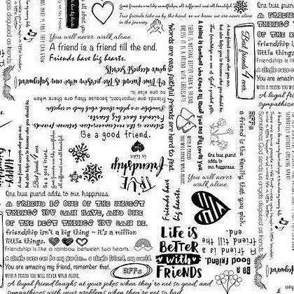 Friendship (white)  - 108inches  wide