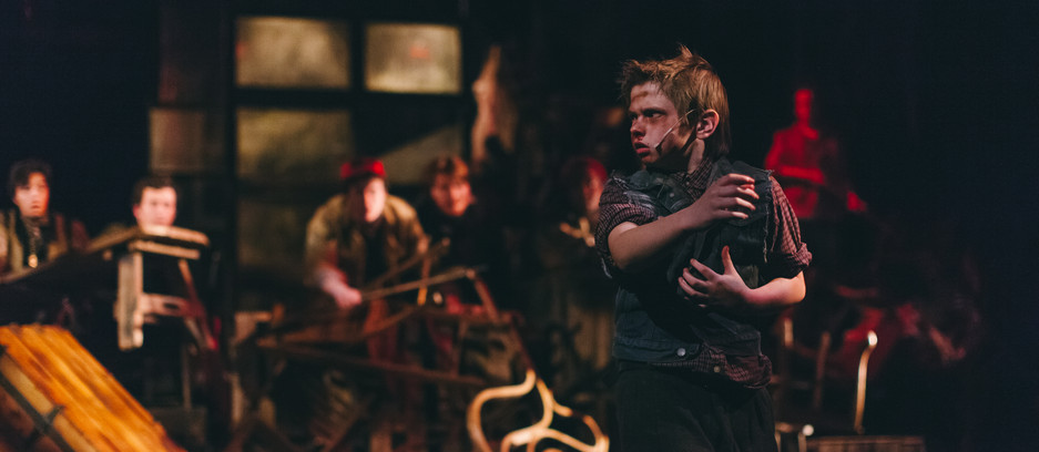 """Directed by Adam Karsten      Choreographed by Karen Sieber   Weathervane's Take on LES MISERABLES Delightfully Different """"...the Weathervane Playhouse production of LES MISERABLES avoided becoming a cookie-cutter production of the musical. Through its creative use of stage space and some spot on performances, the Newark-based theater put their own stamp on the much produced show."""" -- Broadway World dot com"""