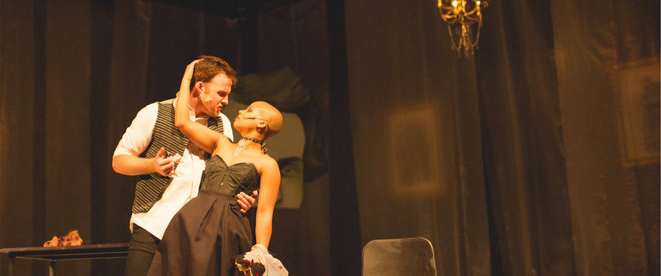 """Directed by Adam Karsten  Weathervane's Jekyll & Hyde Bloody Brilliant """"Masterfully directed and hauntingly choreographed by Adam Karsten, the two-act, at-times gory, production grabs the audience's attention early on and refuses to let it go.""""  --Newark Advocate"""