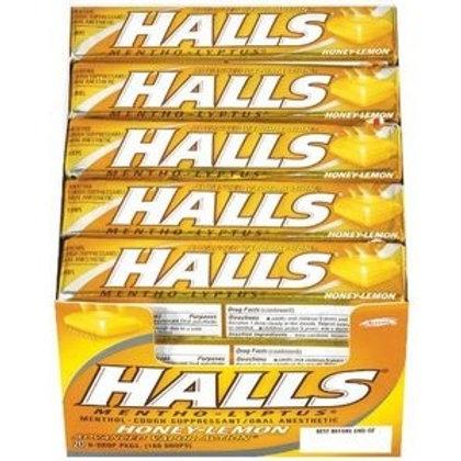 Halls Honey Lemon Sticks 24/20ct