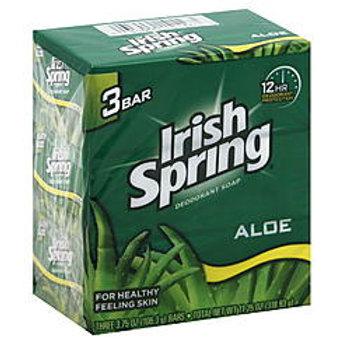 Irish Spring ALOE 3PK 3.75oz. 1/18/3 (54pcs)