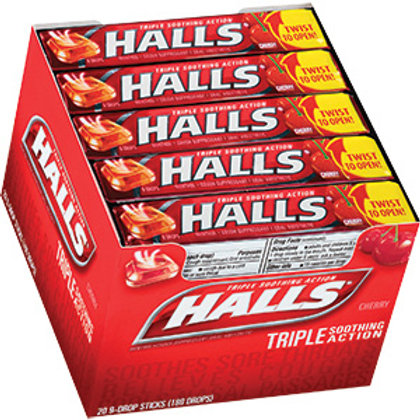 Halls Stick Cherry 24/20 ct