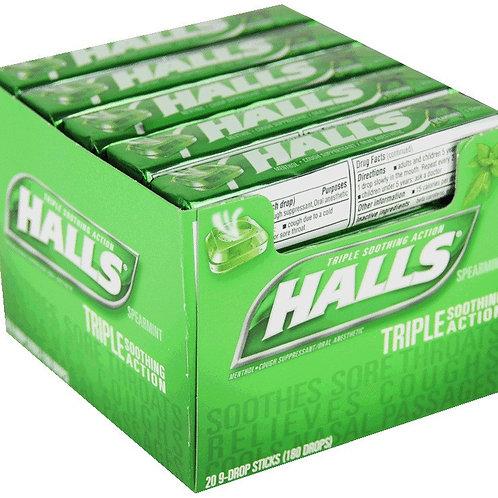 Halls Spearmint 24/20ct