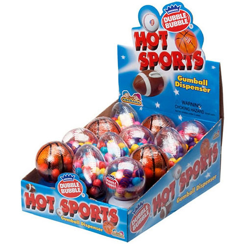 Kidsmania #111BS Sport Balls Gumball Dispense 12's