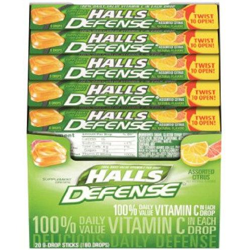 Halls Def Asstd Citrus 24/20