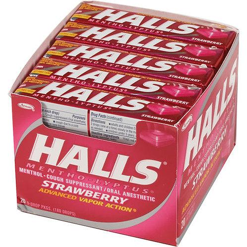 Halls Def Strwaberry 24/20ct