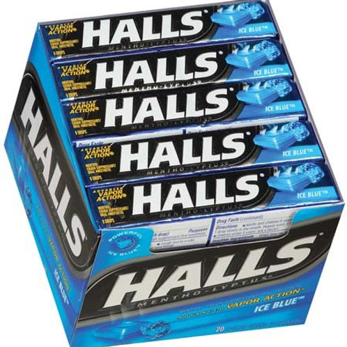Halls Ice Blue Sticks 24/20ct