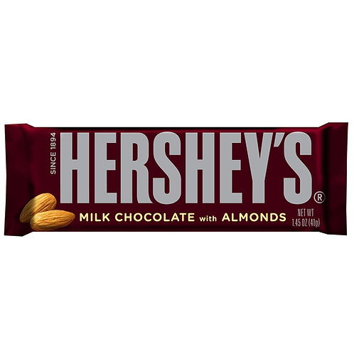 Hersheys Milk Choc. W/Almonds 12/36ct