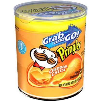 Pringles Chips Cheddar Cheese 12/1.41oz. SS Can