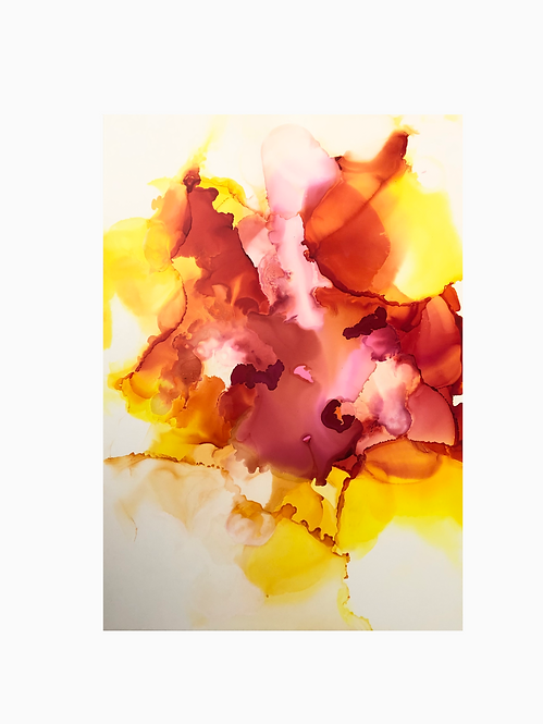 Fluid alcohol ink orange