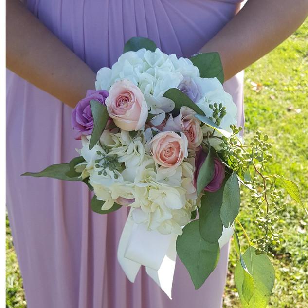 bouquet de fleur pour demoiselle d'honneur