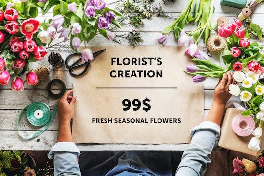 Création du fleuriste 99 $