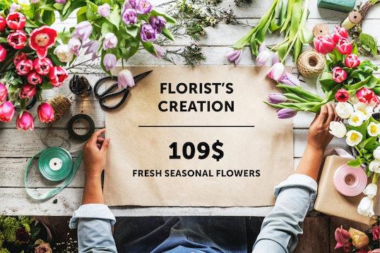 Création du fleuriste 109 $