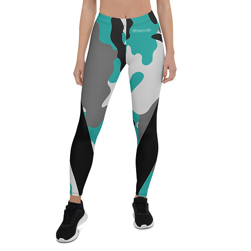 DLHD TEAL CAMO LEGGINGS