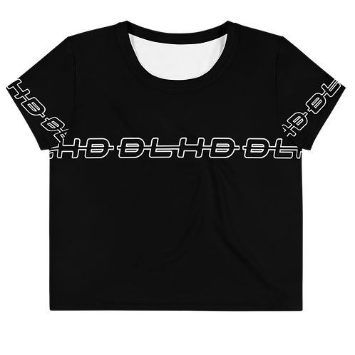 DLHD BLACK STRIP CROP TOP