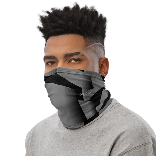 DLHD GREY FRAGMENTS NECK GAITER