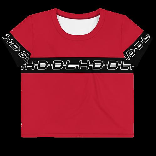 DLHD RED STRIP CROP TOP