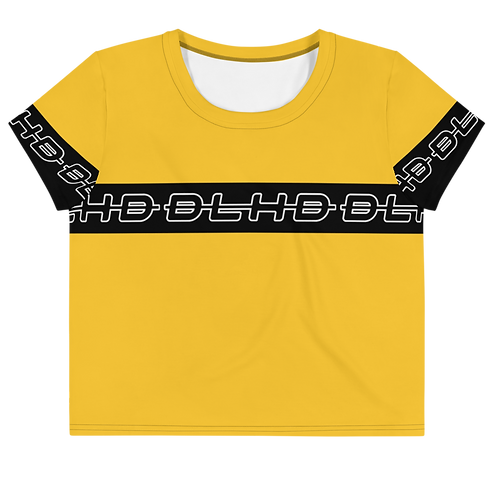 DLHD YELLOW STRIP CROP TOP