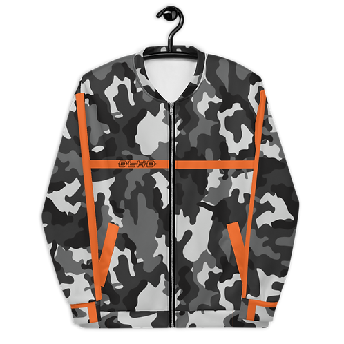 DLHD X BE. STEALTH ORANGE BOMBER JACKET (UNISEX)