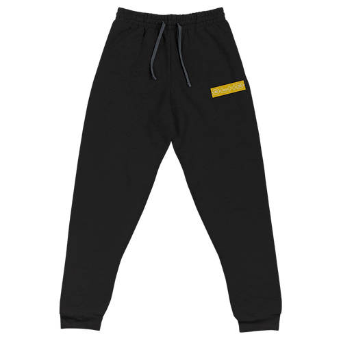 DLHD YELLOW STITCHED LOGO UNISEX JOGGERS