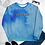 Thumbnail: DLHD BLUE ANXIETY TIE DYE SWEATSHIRT UNISEX