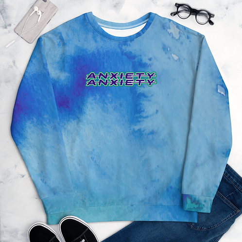 DLHD BLUE ANXIETY TIE DYE SWEATSHIRT UNISEX