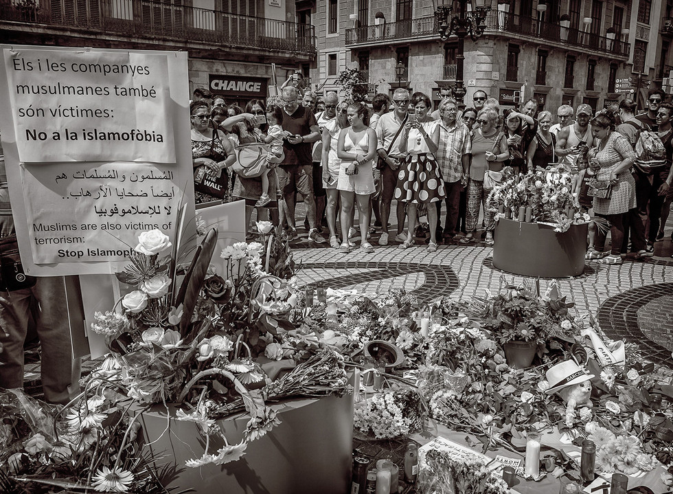 MONO - Barcelona Mourns by Michael Ross (10 marks)