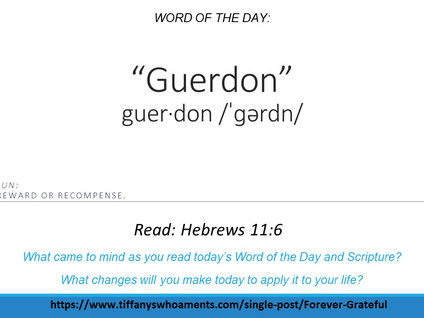 Word of the Day: Guerdon