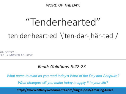 Word of the Day: Tenderhearted